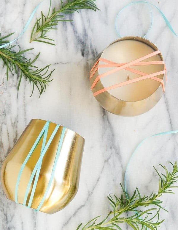DIY Rosemary and Grapefruit Candle #DIY #candle #homdecor #crafts