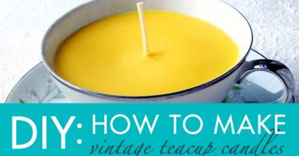 DIY Gift Idea: How to Make Vintage Teacup Candles #DIY #candle #homdecor #crafts