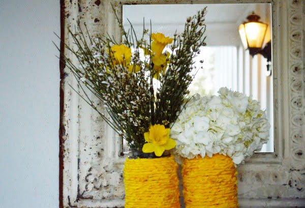 DIY fabric wrapped vase   s