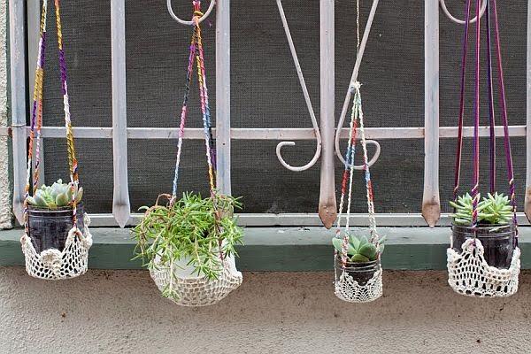 Original DIY Colorful Hanging Window Planters