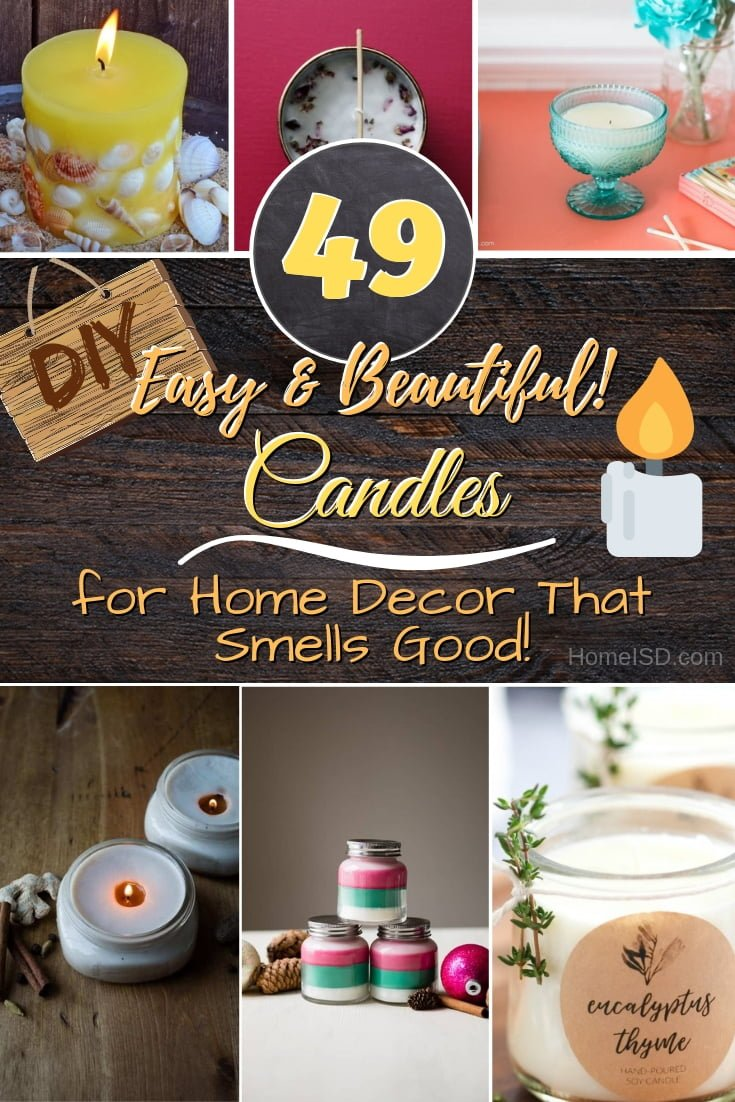 Crate beautiful decor with DIY candles that smell so good too! Great ideas! #homedecor #candles #DIY #crafts