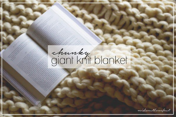 don't worry, stay cozy: DIY super-warm-and-cozy knit blanket