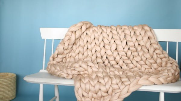 Arm-Knit Throw Blanket Video