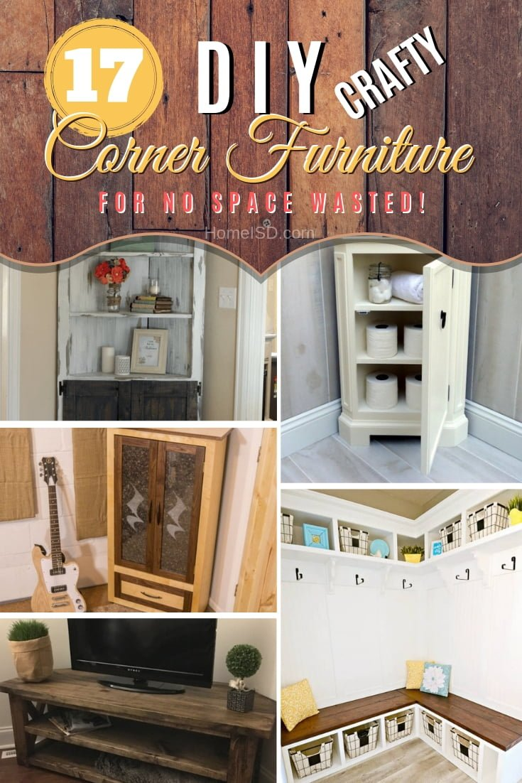 Waste no more space in your home by building DIY corner furniture. Some great ideas! #DIY #furniture #homedecor #woodworking