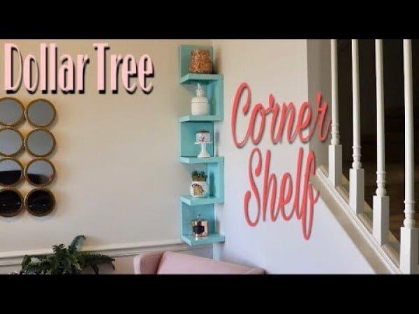 Dollar Tree DIY Corner Shelf