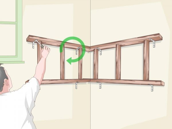 How to Build Suspended Corner Shelves