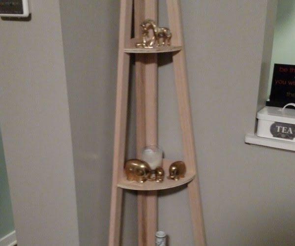 A Frame Style Corner Shelves