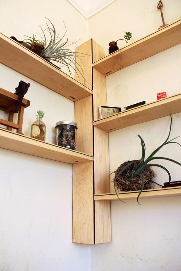 DIY Corner shelves