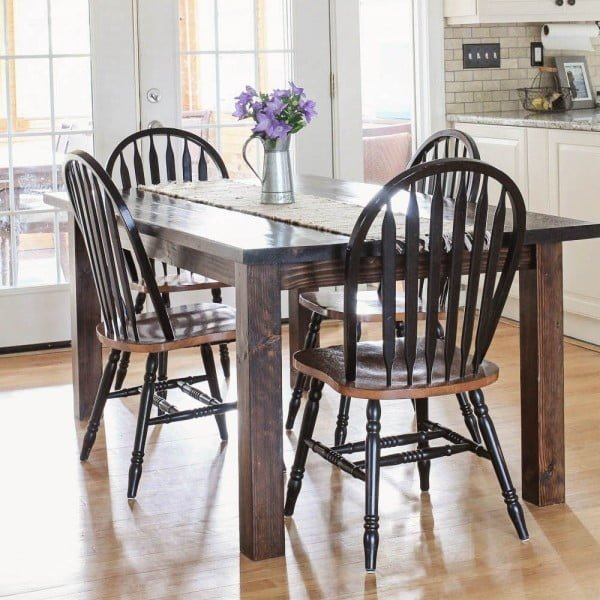 Farmhouse Table DIY with Removable Legs #DIY #furniture #homedecor #woodworking