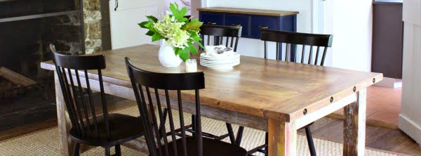 DIY: How to Build a Faux Barnwood Dining Table