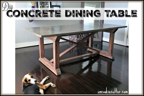 Concrete Dining Table #DIY #furniture #homedecor #woodworking