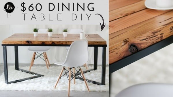 DIY Scandinavian Dining table #DIY #furniture #homedecor #woodworking
