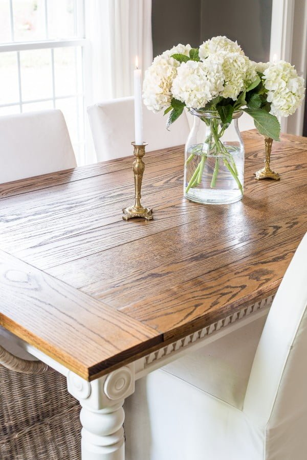 DIY Retrofitted Dining Table Top #DIY #furniture #homedecor #woodworking