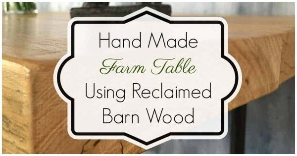 How to build a farm table with reclaimed barn wood and industrial steel pipe legs #DIY #furniture #homedecor #woodworking