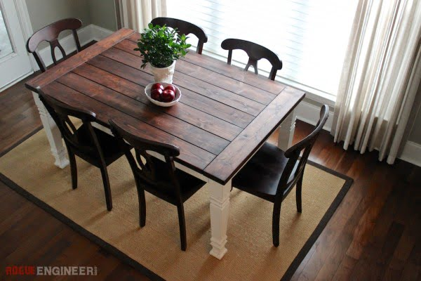 DIY Farmhouse Table #DIY #furniture #homedecor #woodworking