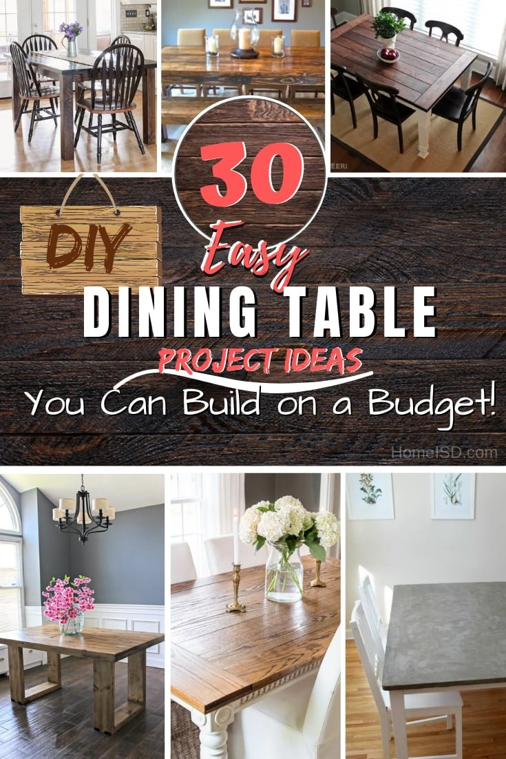 Build a beautiful dining table and save a lot of money using these terrific tutorials with plans for a DIY dining table. Great list! #DIY #furniture #homedecor