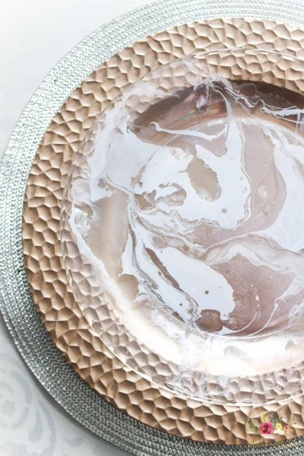 Make Your Own Marbled Plates and Bowls with a Video Tutorial!