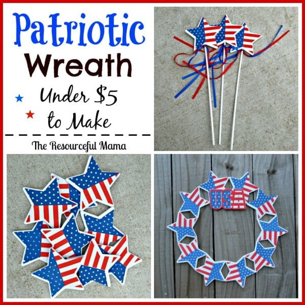 DIY Dollar Tree Patriotic Wreath