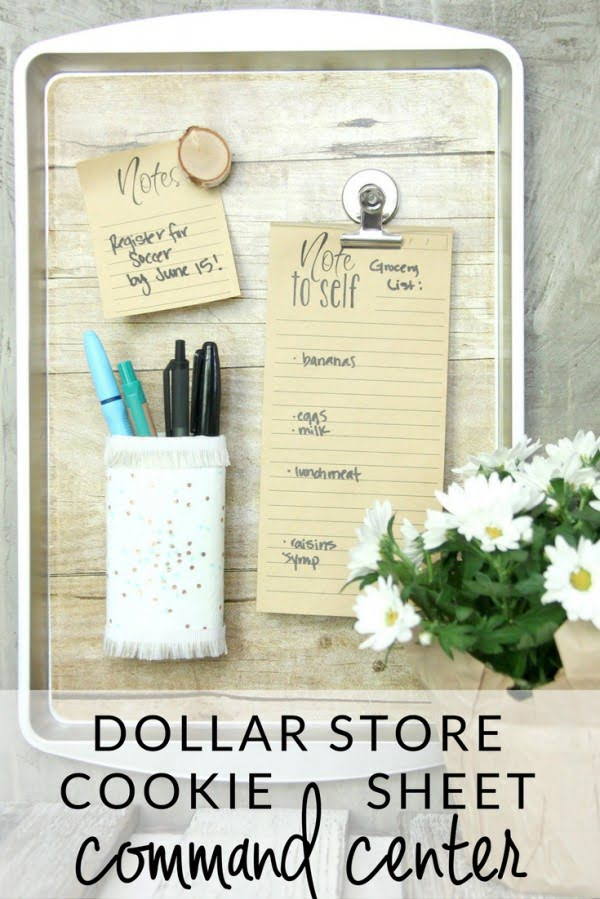 How to DIY a Magnetic Organizer from a Dollar Store Cookie Sheet