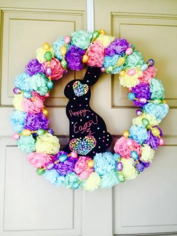 Bright & Cheery DIY Easter Wreath  wreath