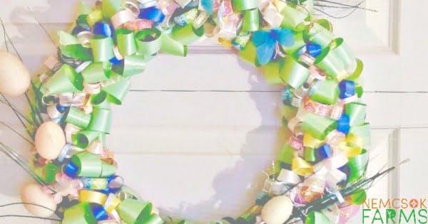 DIY Easter Ribbon Wreath Tutorial  wreath