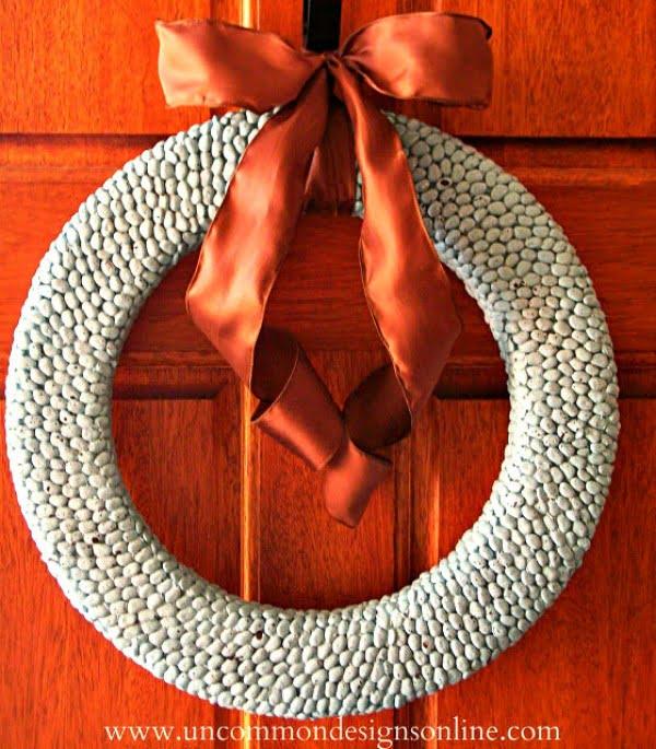 How To Make a Lima Bean Wreath #easter #easterwreath #wreath #DIY #crafts #homedecor #springdecor