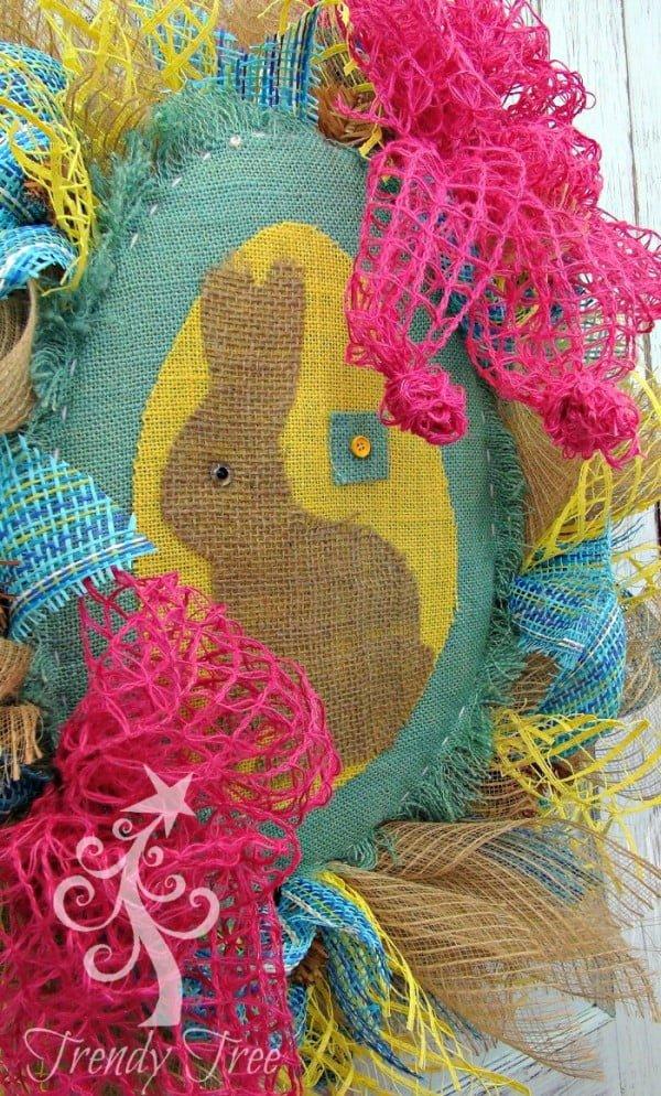 DIY Burlap Easter Wreath  wreath