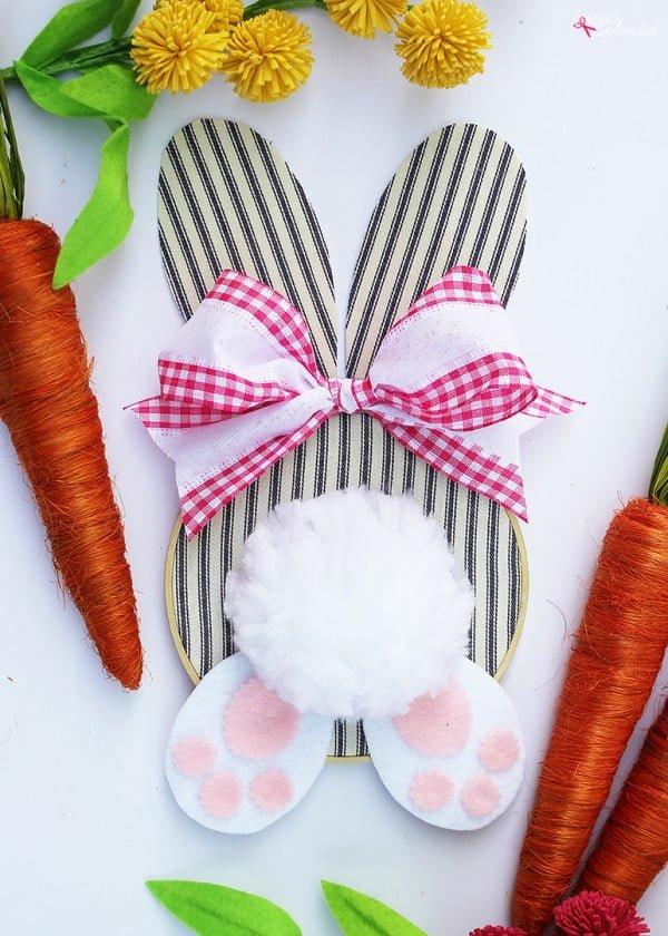 Embroidery Hoop Bunny Easter Wreath  wreath
