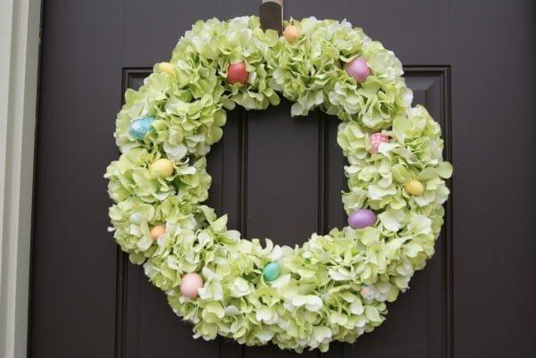 DIY Hydrangea Easter Wreath  wreath