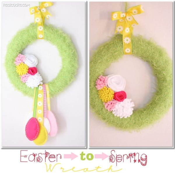 Easter to Spring DIY Wreath  wreath