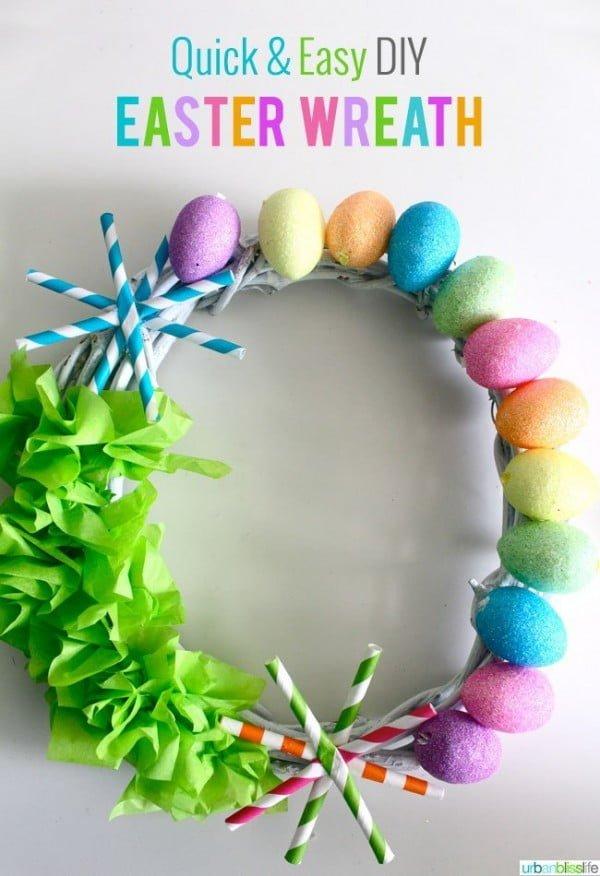 Quick & Easy DIY Easter Wreath Tutorial  wreath