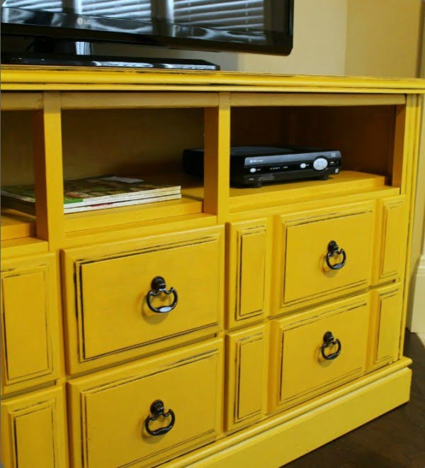 DIY Dresser turned TV Console with Tutorial • Domestic Superhero