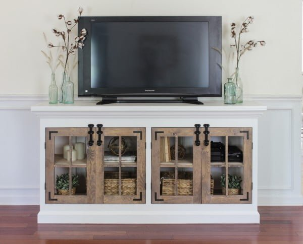 Farmhouse Media Cabinet