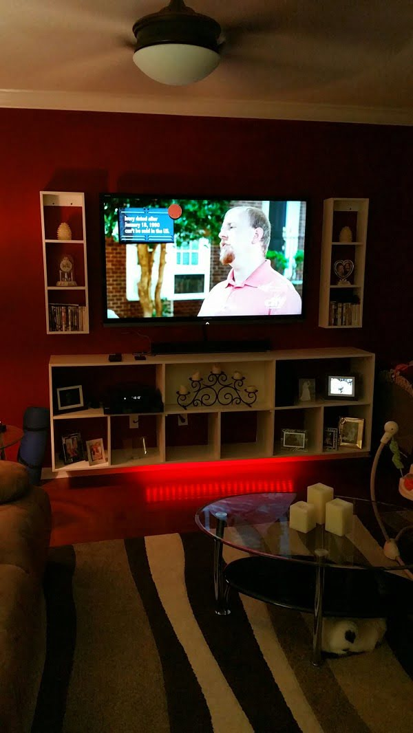 Wall Mounted Plywood Entertainment Center