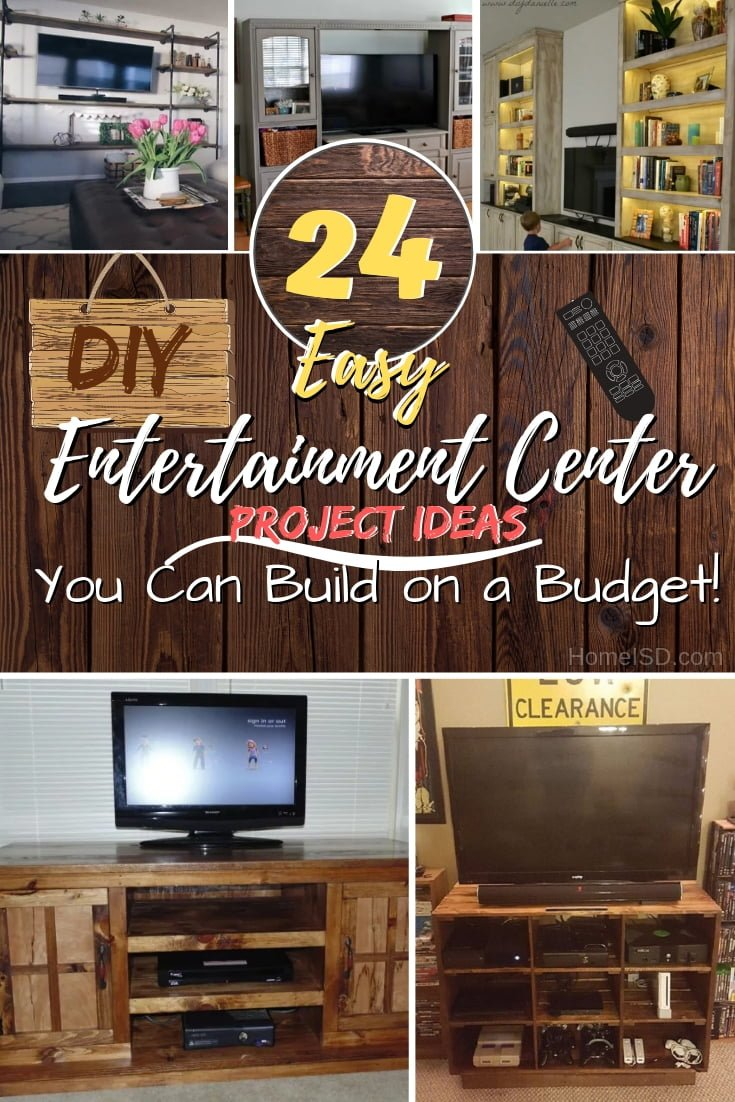 Build a home entertainment center for the whole family to enjoy and save a ton of money doing it. Here are 24 amazing ideas. Great list! #DIY #woodworking #furniture #homedecor