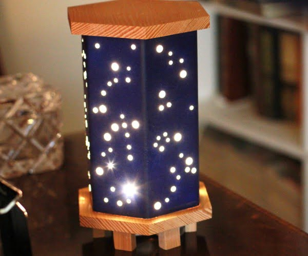 Magical Starry Night Light W/ Wood, Foamboard & Fairy Lights
