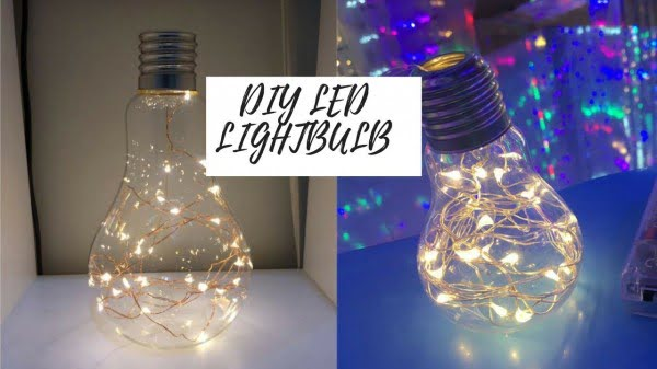 DIY FAIRY LIGHT LIGHTBULB LAMP