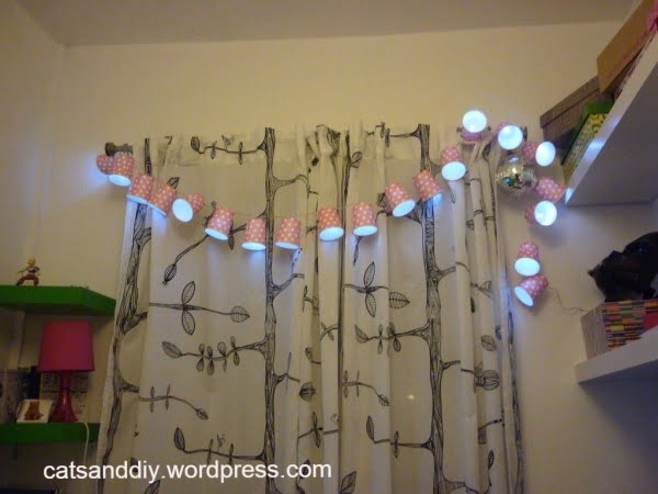 DIY Paper Cup String Lights