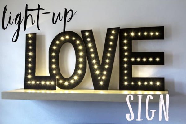DIY Idea: How To Make Your Own Light-Up Love Sign