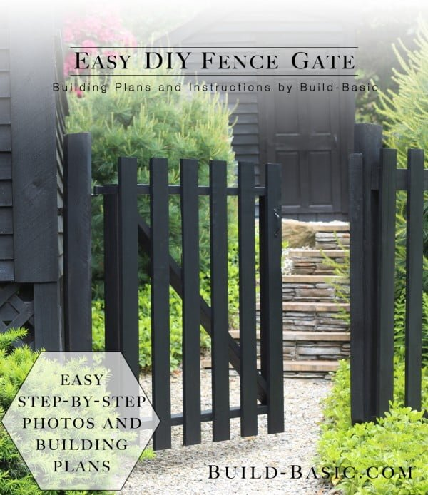 Build an Easy DIY Fence Gate #DIY #garden #backyard #woodworking