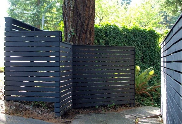 How to build a DIY backyard fence, part II #DIY #garden #backyard #woodworking