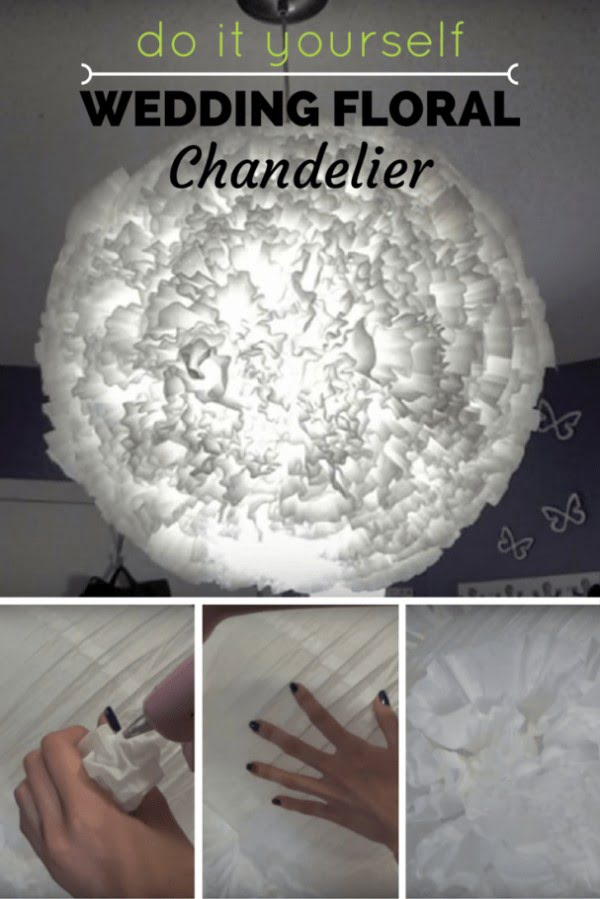 Ingenious DIY Floral Chandelier Using Coffee Filters to Achieve an Elegant Ambiance on your Big Day #DIY #floral #chandelier #homedecor #lighting