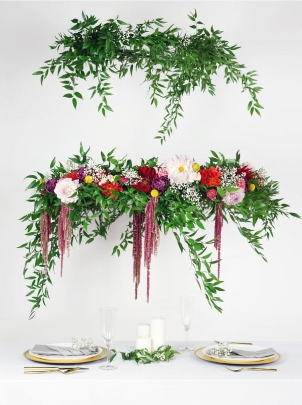 How to Make a DIY Flower Chandelier