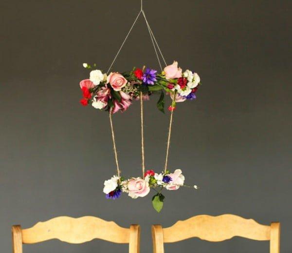 Howe We Live  DIY Floral Chandelier