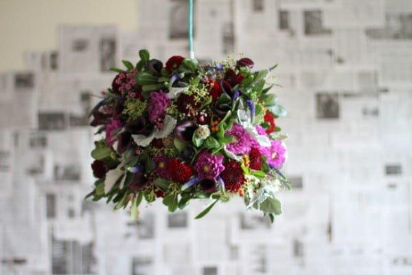 Make This: Fresh Flower Pendant Light DIY