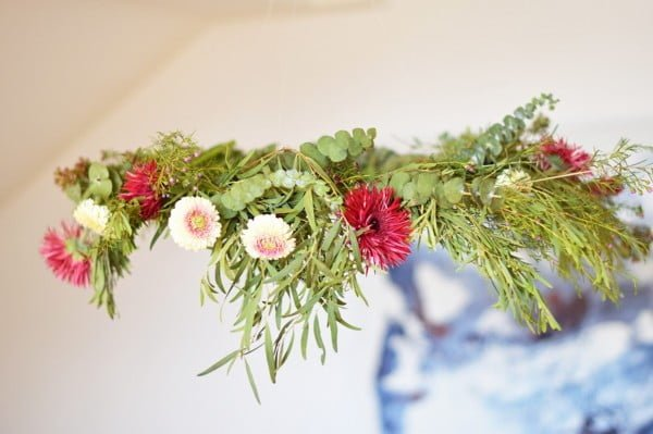 DIY: The Perfect Floral Chandelier #DIY #floral #chandelier #lighting #homedecor