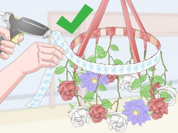 How to Make a Hanging Flower Chandelier