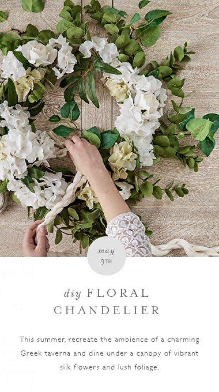 DIY Hanging Floral Chandelier