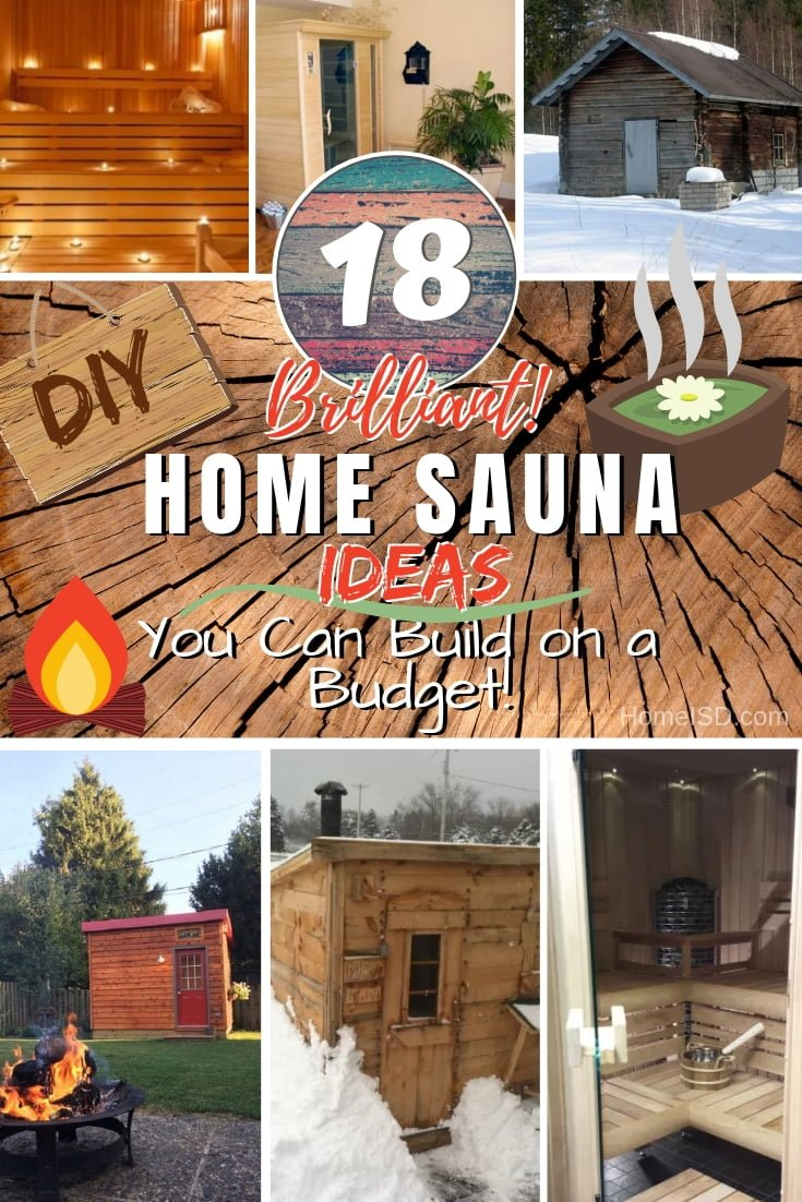 Build a DIY home sauna for the ultimate relaxation. Here are 18 brilliant project ideas to choose from! #DIY #woodworking