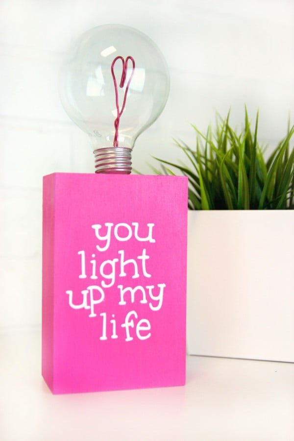 DIY Valentine's Day Lightbulb Gift #DIY #homedecor #craft #repurpose